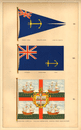 BRITISH MARITIME FLAGS. Admiralty Tender Victualling Trinity House Master 1873